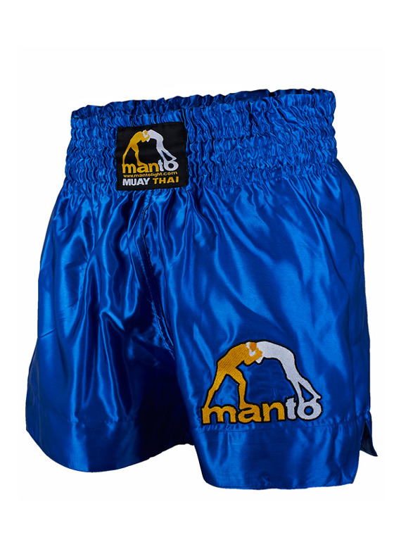MANTO fightshorts MUAY THAI LOGO blue