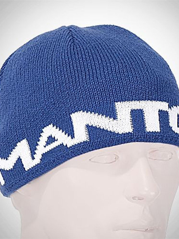 MANTO beanie LOGOTYPE navy blue