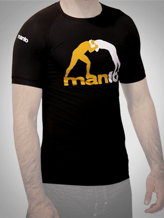 MANTO short sleeve rashguard LOGO black