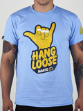 MANTO t-shirt HANG LOOSE błękitny