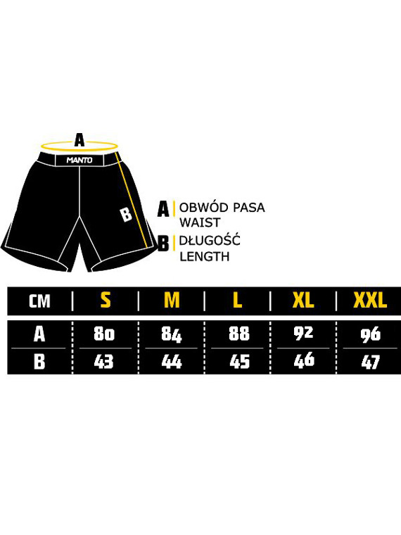 MANTO fight shorts EMBLEM black