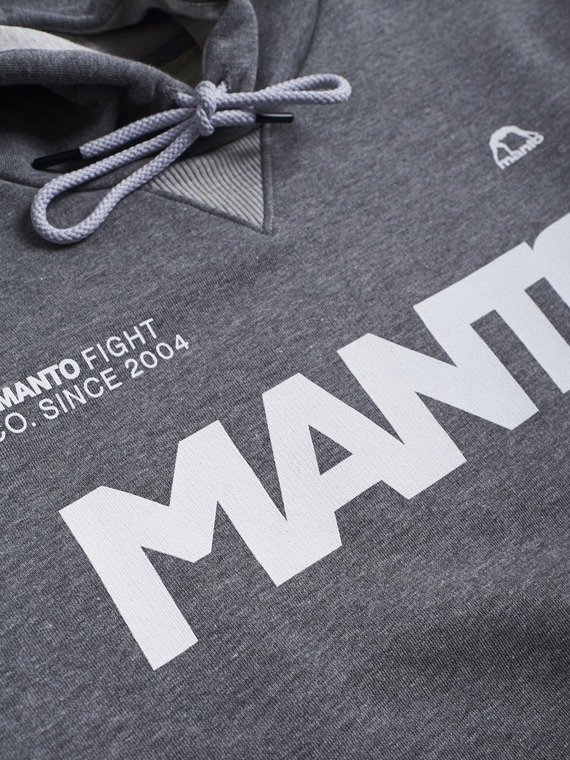 MANTO hoodie LABEL heather grey