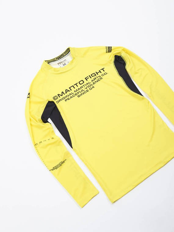 MANTO long sleeve rashguard FUTURE yellow
