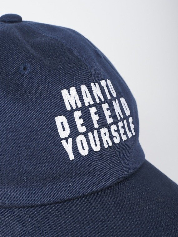 MANTO low profile cap DEFEND navy blue