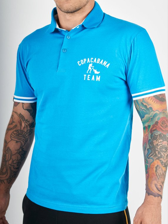 MANTO polo COPACABANA blue