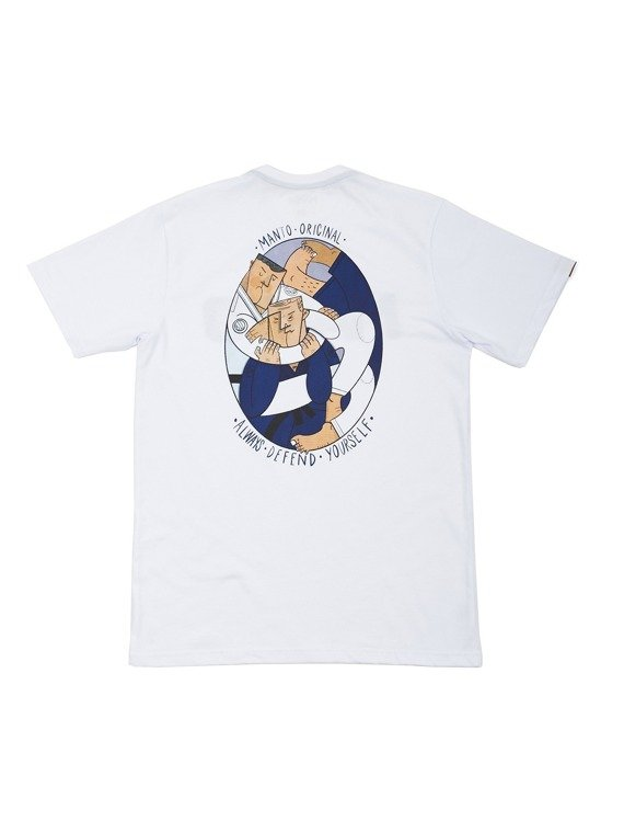 MANTO t-shirt MATA LEAO white