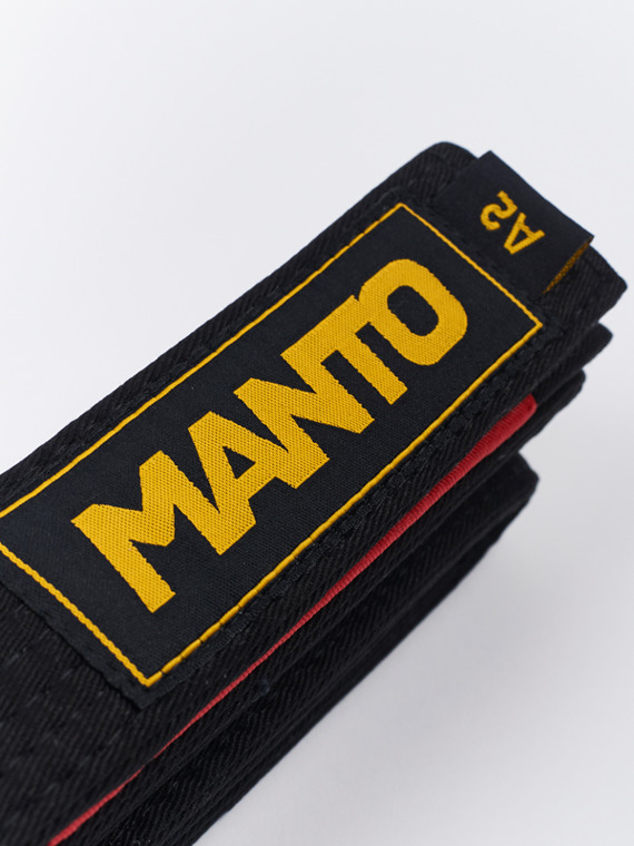 MANTO belt BJJ LOGOTYPE black