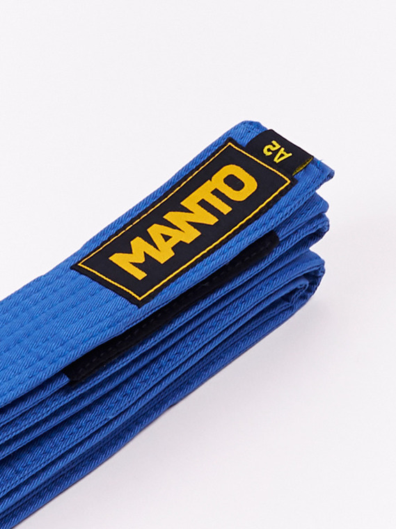 MANTO belt BJJ LOGOTYPE blue
