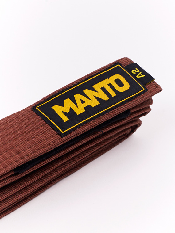 MANTO belt BJJ LOGOTYPE brown
